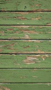 Peeling painted wood